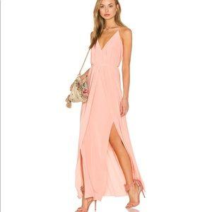 MISA Pink Maxi Dress NWOT
